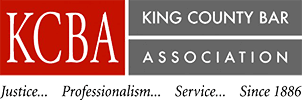 Logo Recognizing de Maar Law's affiliation with the King County Bar Association