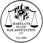 Logo Recognizing de Maar Law's affiliation with the Maryland State Bar Association
